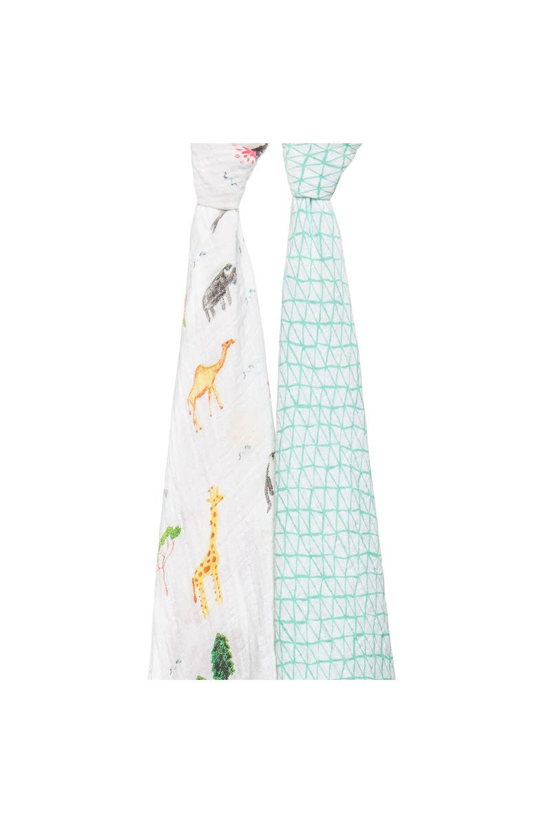 ADEN AND ANAIS Muslin Around the World Print Swaddles - Pack of 2, Main, color, AROUND THE WORLD