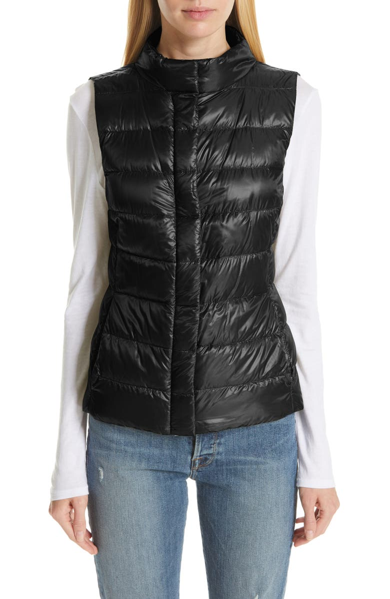 HERNO Short Quilted Down Vest, Main, color, 001