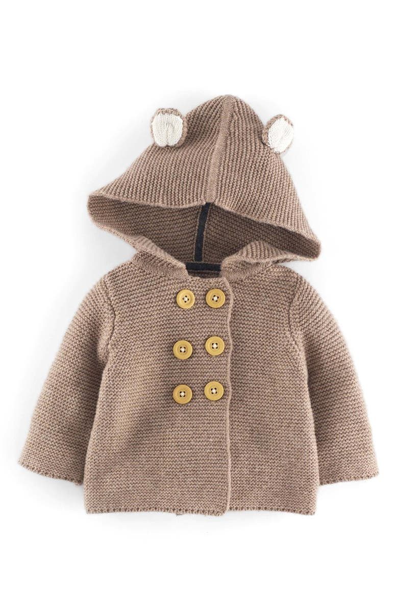 MINI BODEN Hooded Knit Jacket, Main, color, 200