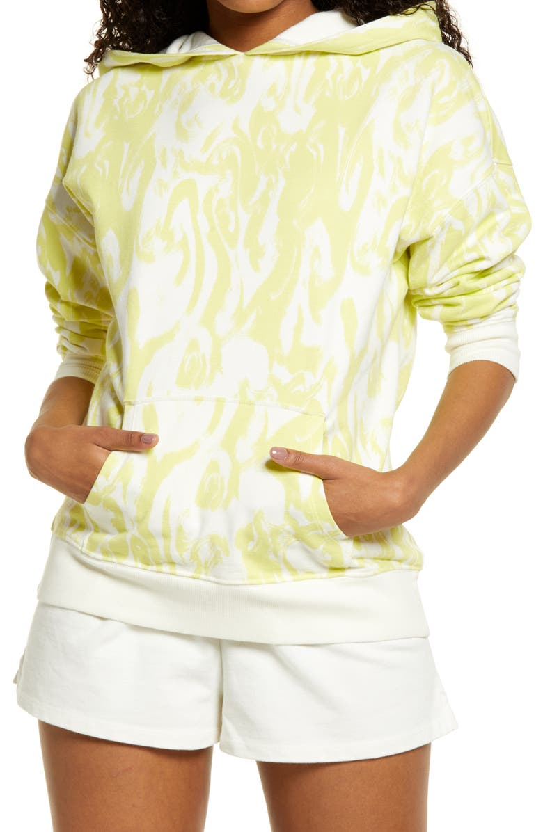 BP. Hooded Pullover, Main, color, IVORY- GREEN NOVA ABSTRACT