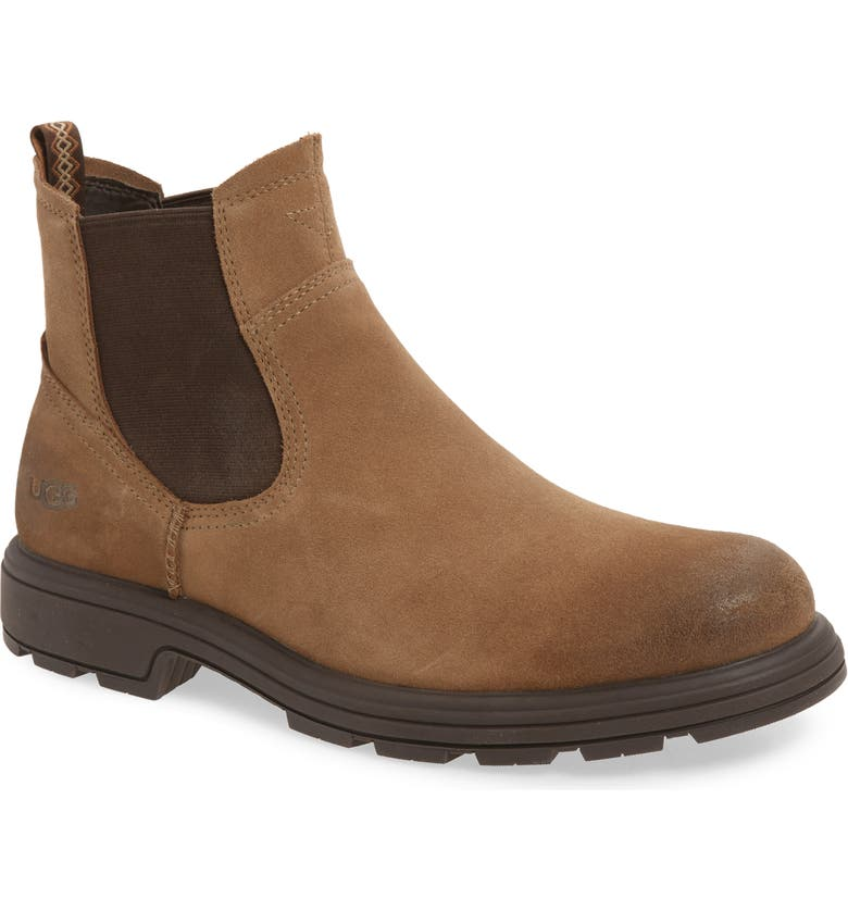UGG<SUP>®</SUP> Biltmore Waterproof Chelsea Boot, Main, color, OTTER SUEDE