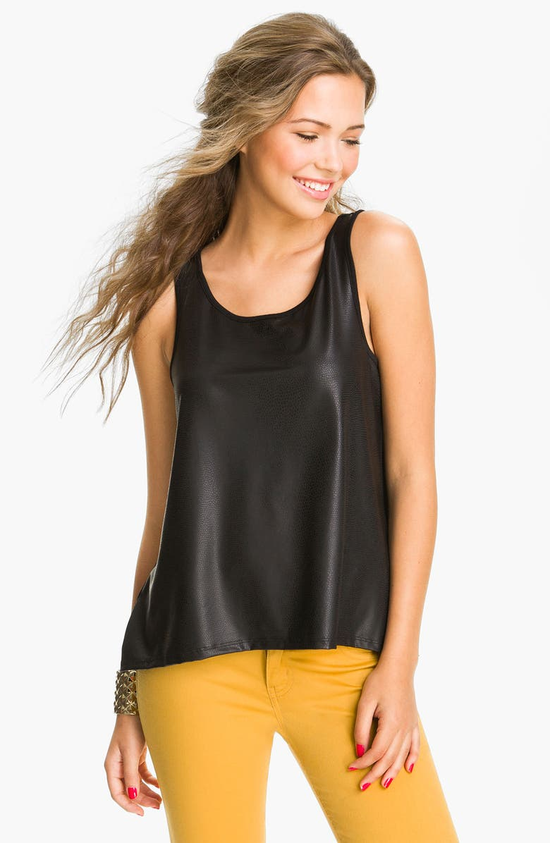 WALLPAPHER Faux Leather Tank, Main, color, 001