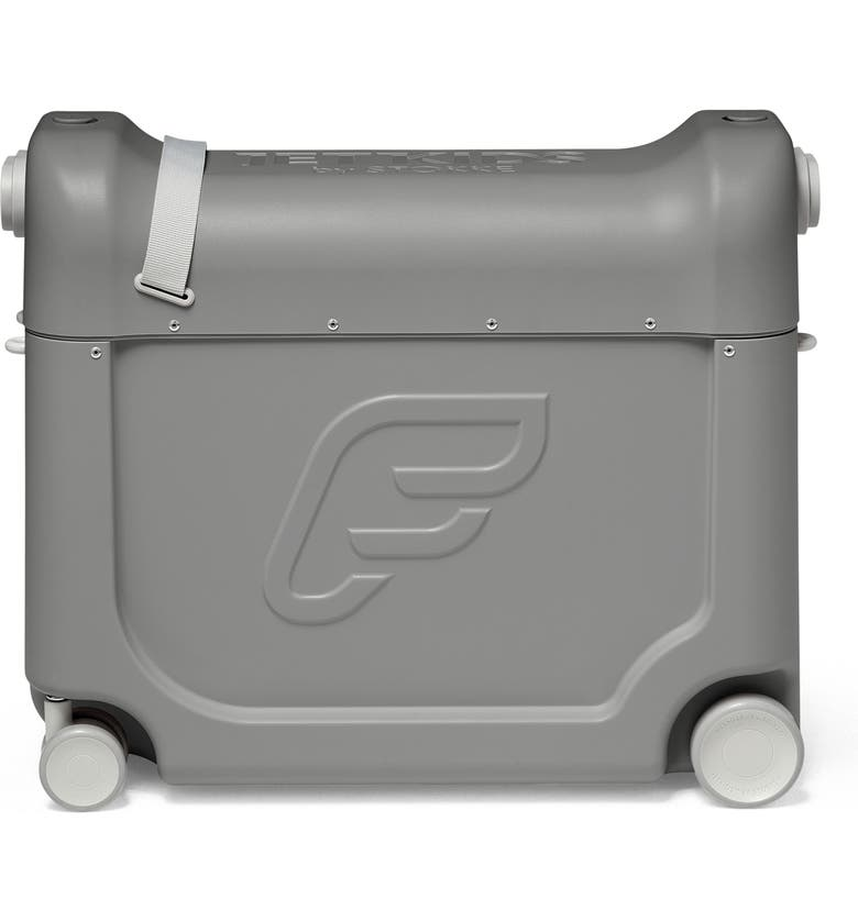 STOKKE JetKids<sup>™</sup> by Stokke Bedbox<sup>®</sup> 19-Inch Ride-On Carry-On Suitcase, Main, color, GREY