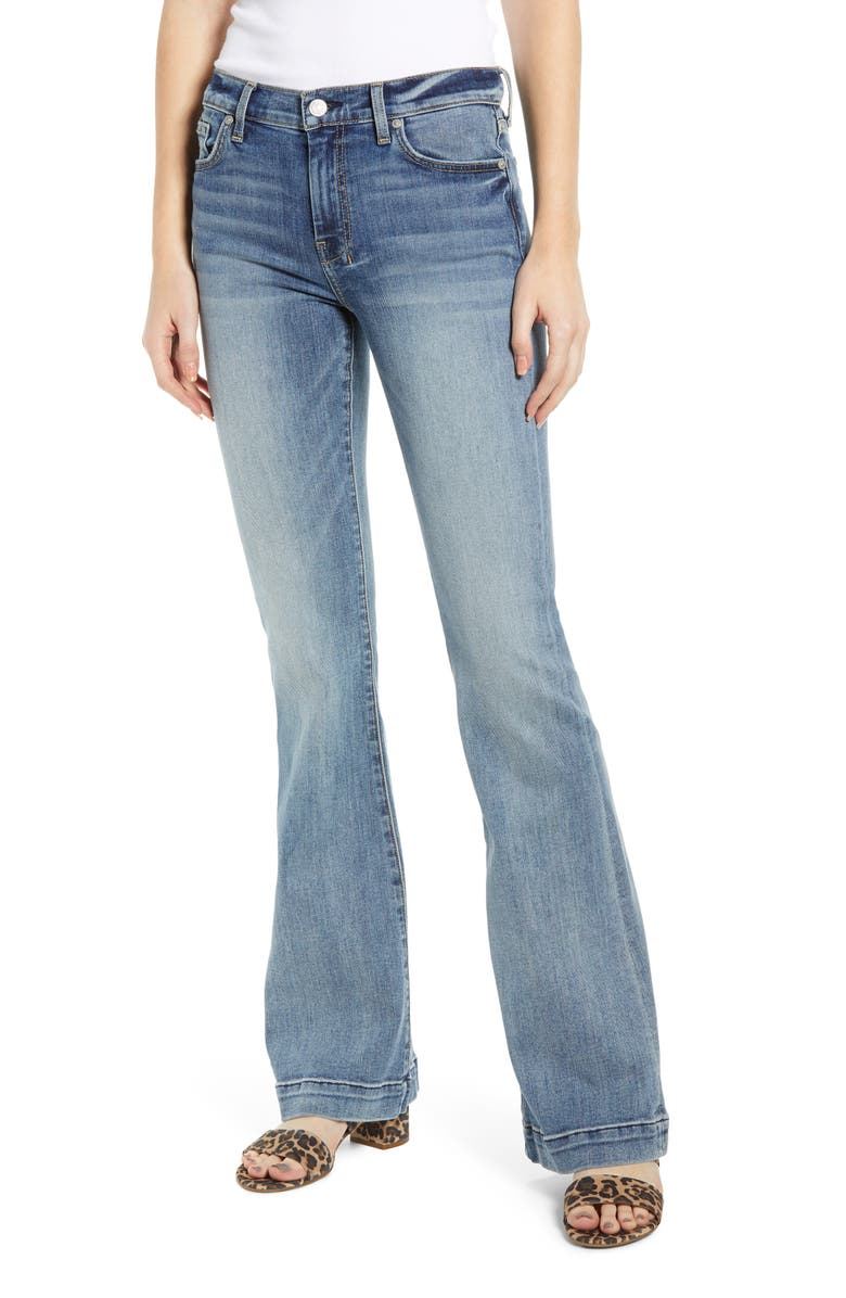 7 FOR ALL MANKIND<SUP>®</SUP> Dojo Wide Leg Jeans, Main, color, BAIR AUTHENTIC FORTUNE