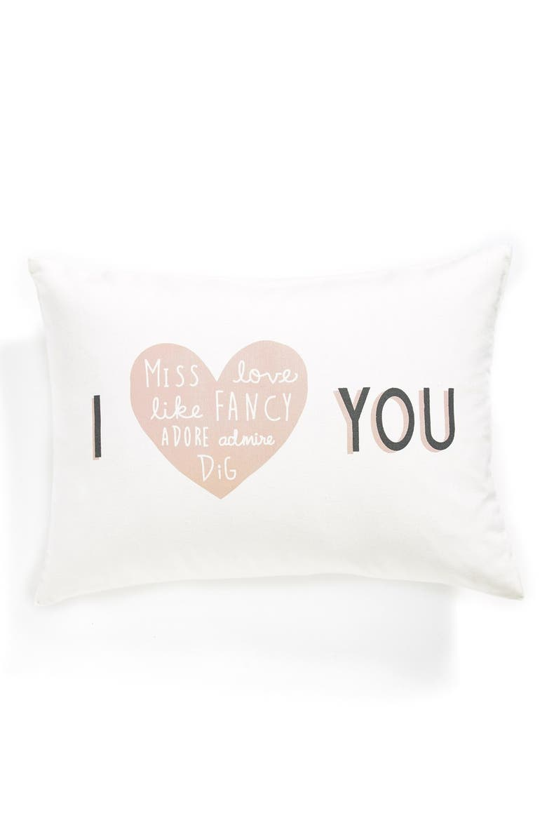 NORDSTROM at Home 'I Heart You' Pillow, Main, color, IVORY MULTI