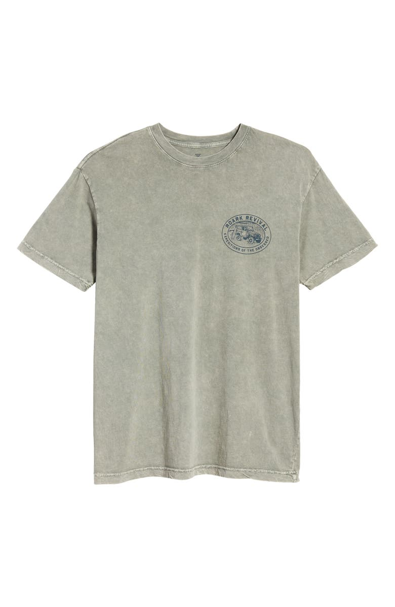 ROARK Men's Expeditions of The Obsessed Logo T-Shirt, Main, color, CACTUS