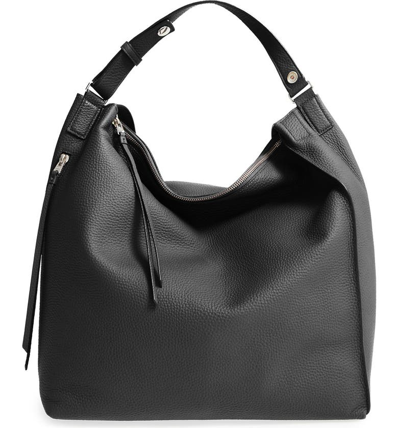 ALLSAINTS Kita Convertible Leather Backpack, Main, color, 001