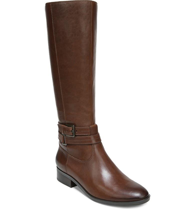 NATURALIZER Reed Riding Boot, Main, color, CINNAMON LEATHER
