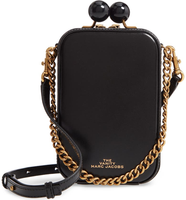 THE MARC JACOBS The Vanity Leather Crossbody Bag, Main, color, 007