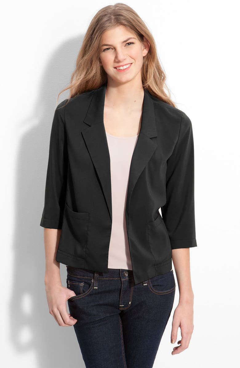 FRENCHI <sup>®</sup> Slouchy Open Front Blazer, Main, color, 001