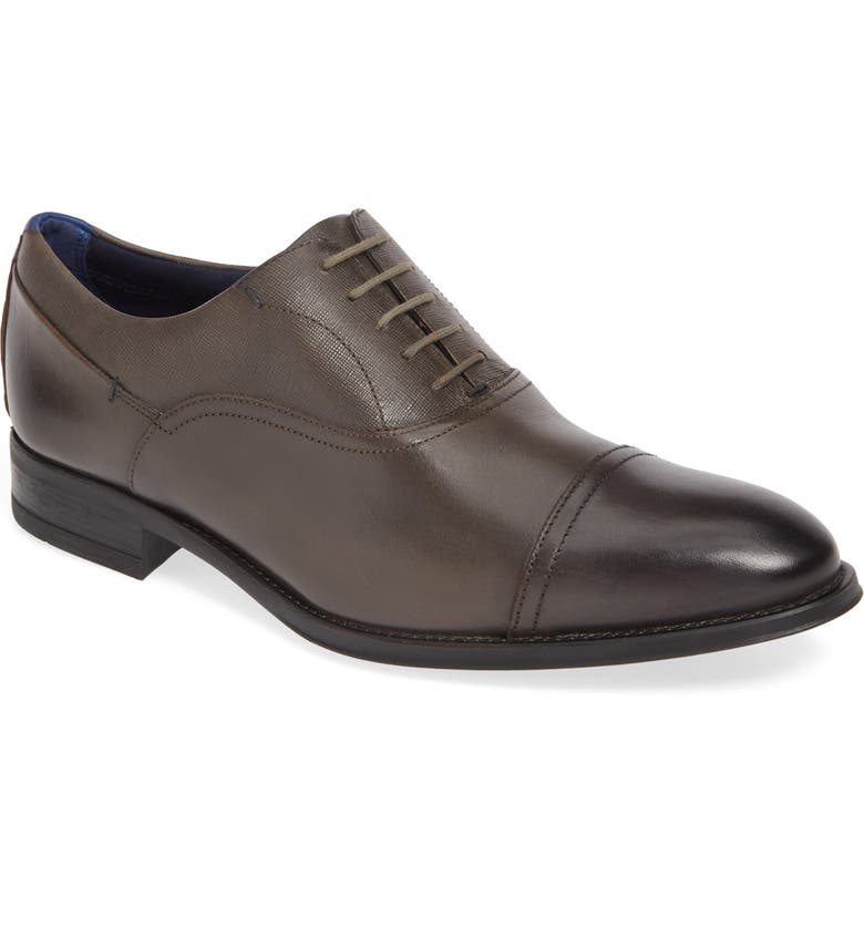 TED BAKER LONDON Sibits Leather Cap Toe Oxford, Main, color, BROWN LEATHER