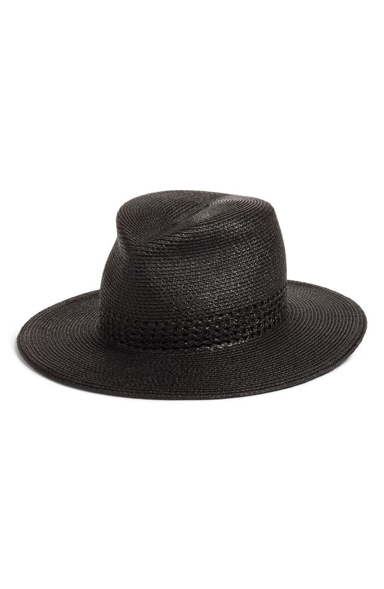 ERIC JAVITS Bayou Packable Squishee<sup>®</sup> Fedora, Main, color, BLACK