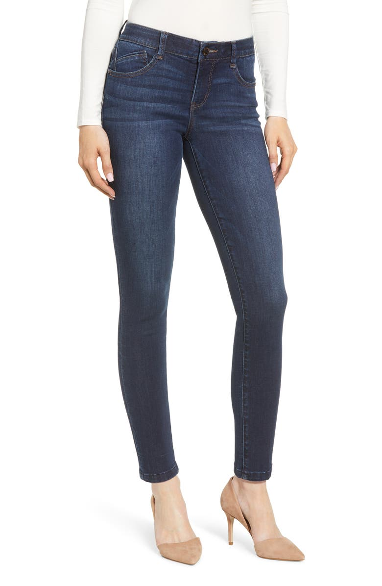 WIT & WISDOM Ab-Solution Skinny Jeans, Main, color, DARK NAVY