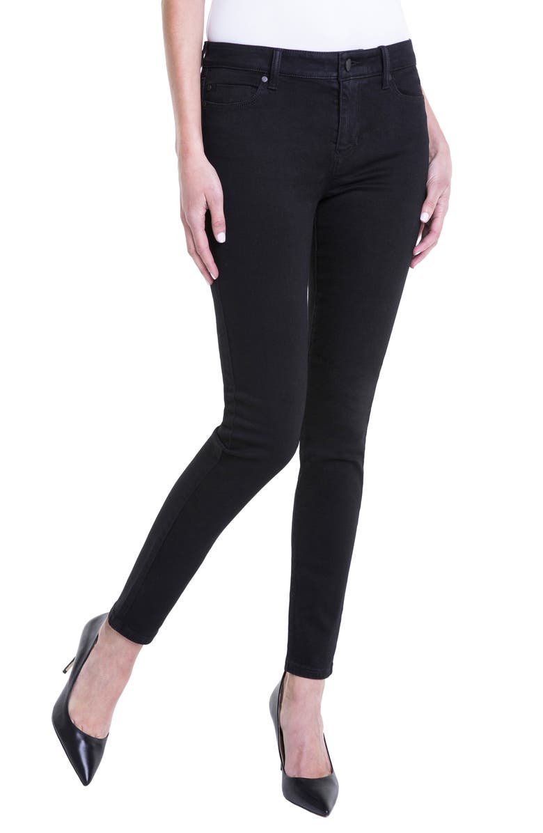 LIVERPOOL Jeans Company Abby Stretch Skinny Jeans, Main, color, BLACK RINSE