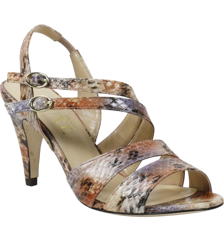 J. RENEÉ Carro Snake Embossed Strappy Sandal, Main, color, DESERT MULTI SNAKE PRINT