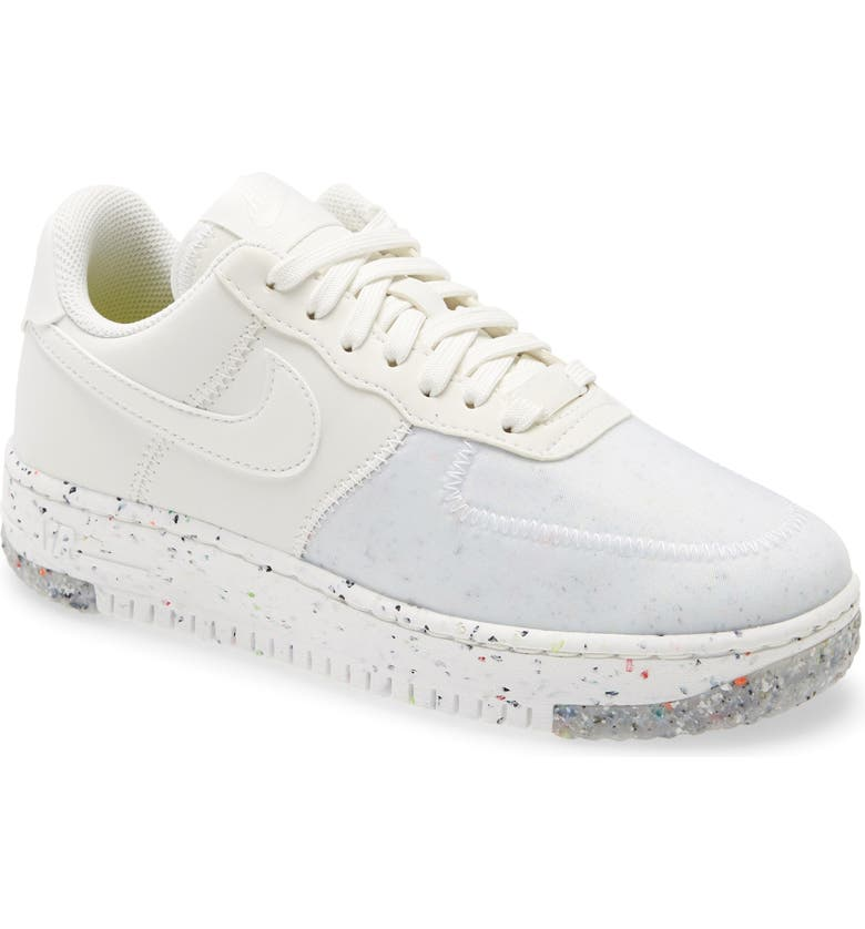 NIKE Air Force 1 Crater Sneaker, Main, color, SUMMIT WHITE
