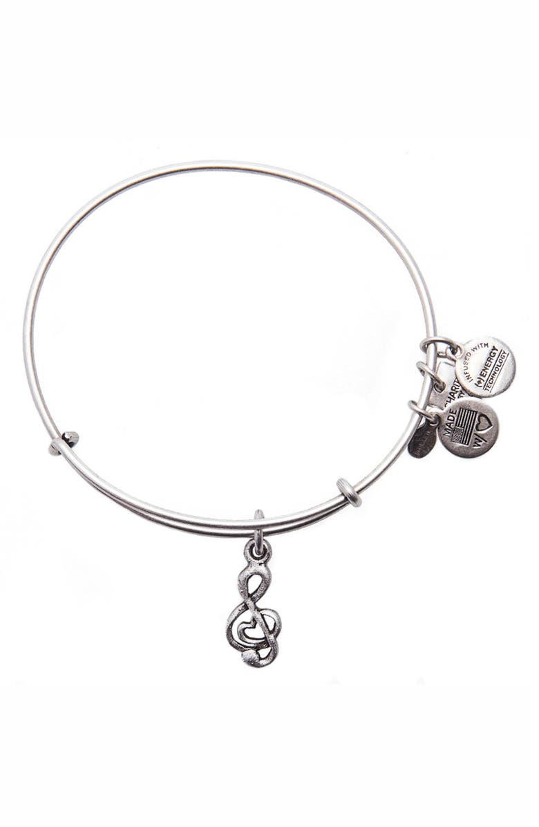ALEX AND ANI 'Charity by Design - Sweet Melody' Expandable Wire Bangle, Main, color, Silver