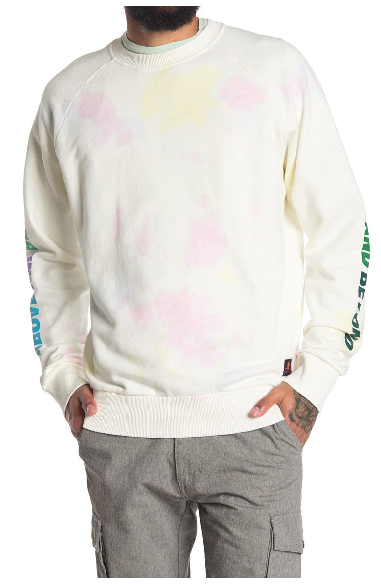 SCOTCH AND SODA Tie Dye Print Crew Neck Sweater, Main, color, COMBO A