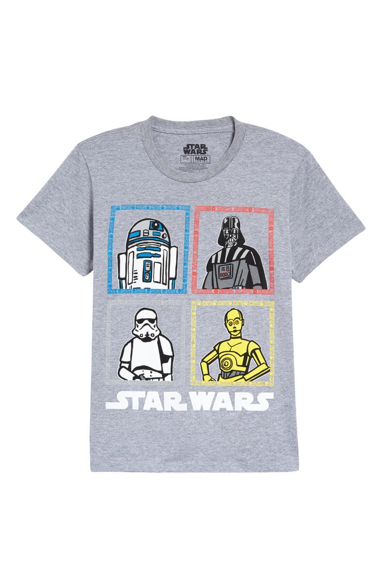 MIGHTY FINE Kids' Star Wars<sup>™</sup> Team Grid Graphic Tee, Main, color, 050