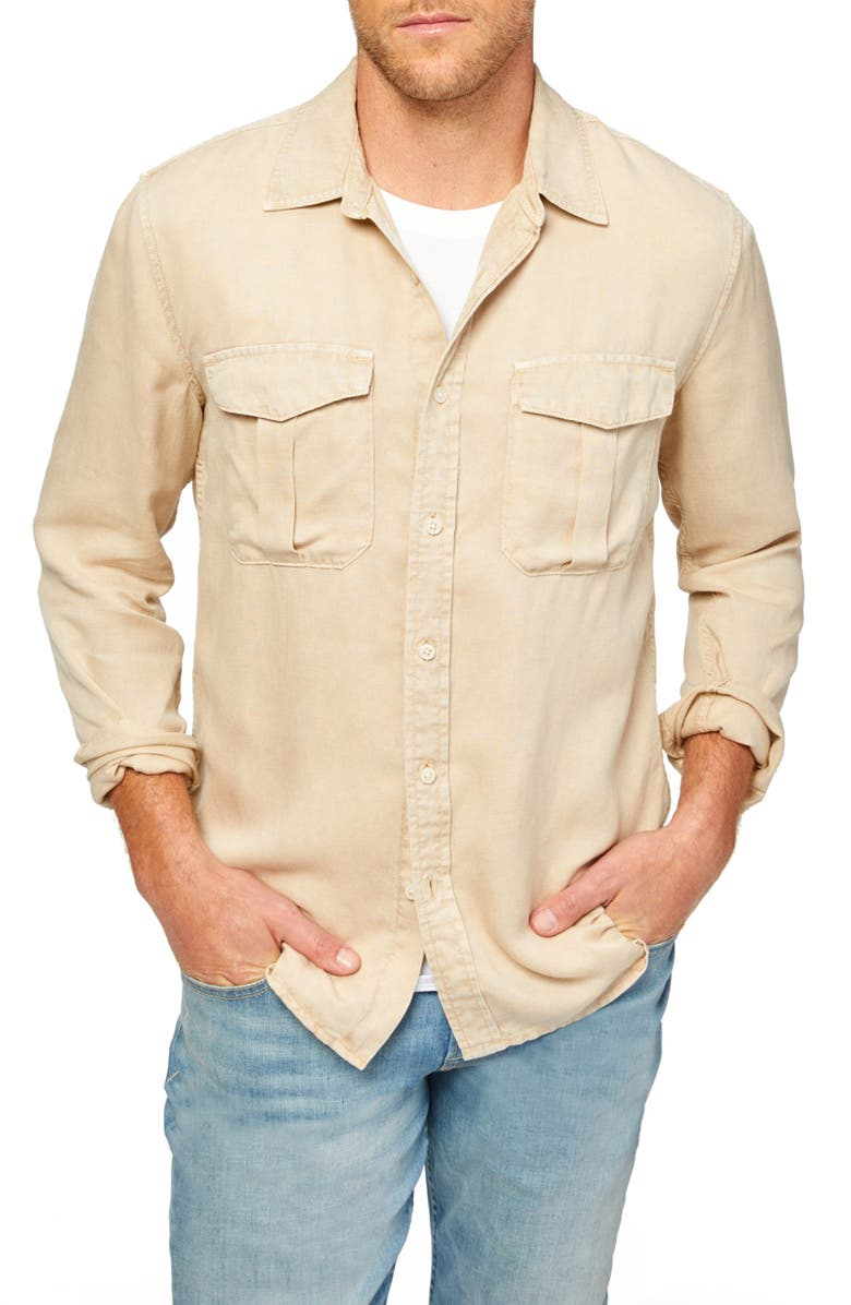 7 FOR ALL MANKIND<SUP>®</SUP> 7 For All Mankind Military Button-Up Shirt, Main, color, TAN