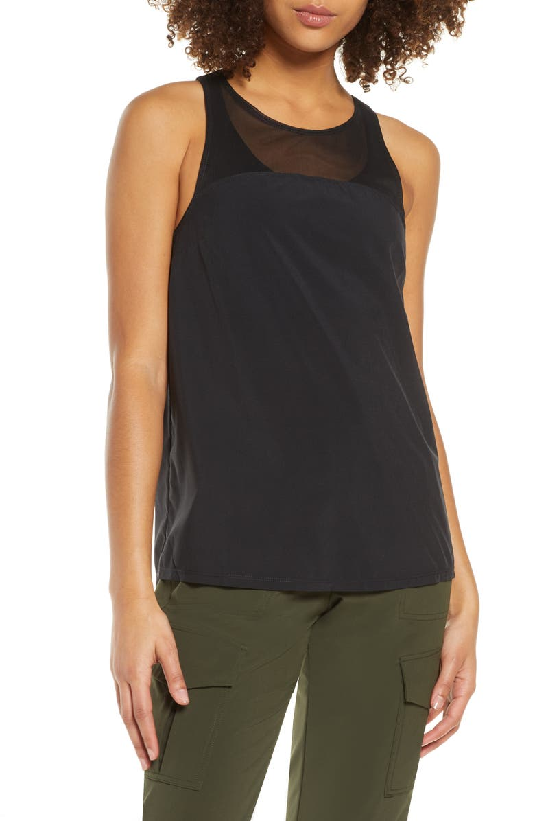 ZELLA Go with the Flow Tank Top, Main, color, 001