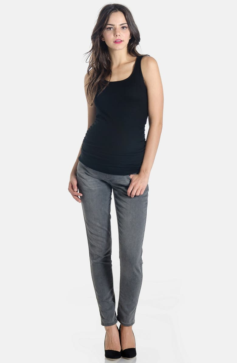 LILAC CLOTHING Skinny Maternity Jeans, Main, color, Grey