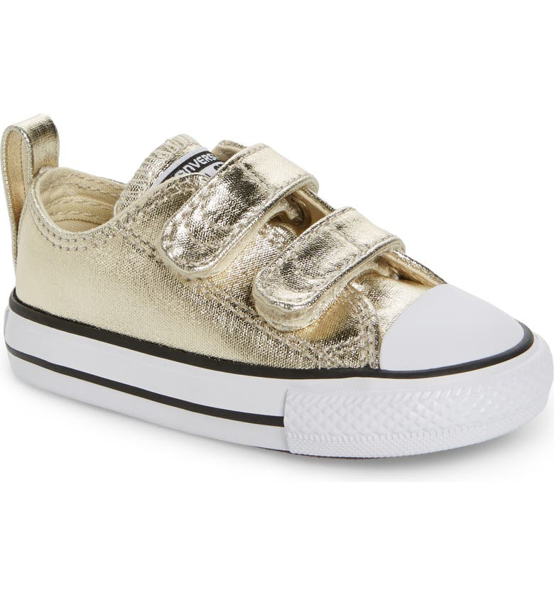 CONVERSE Chuck Taylor<sup>®</sup> All Star<sup>®</sup> 2V Metallic Low-Top Sneaker, Main, color, 710