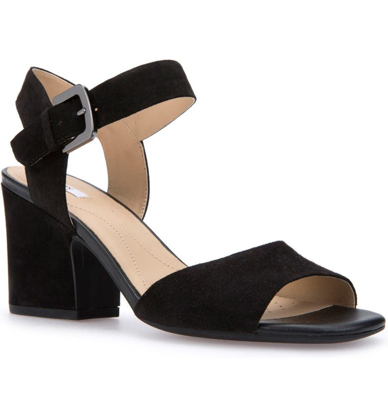 GEOX Marilyse Ankle Strap Sandal, Main, color, 001