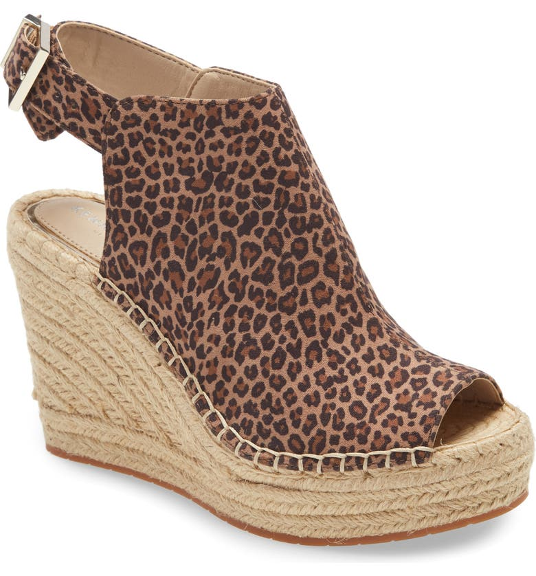 KENNETH COLE NEW YORK 'Olivia' Espadrille Wedge Sandal, Main, color, FOSSIL SUEDE