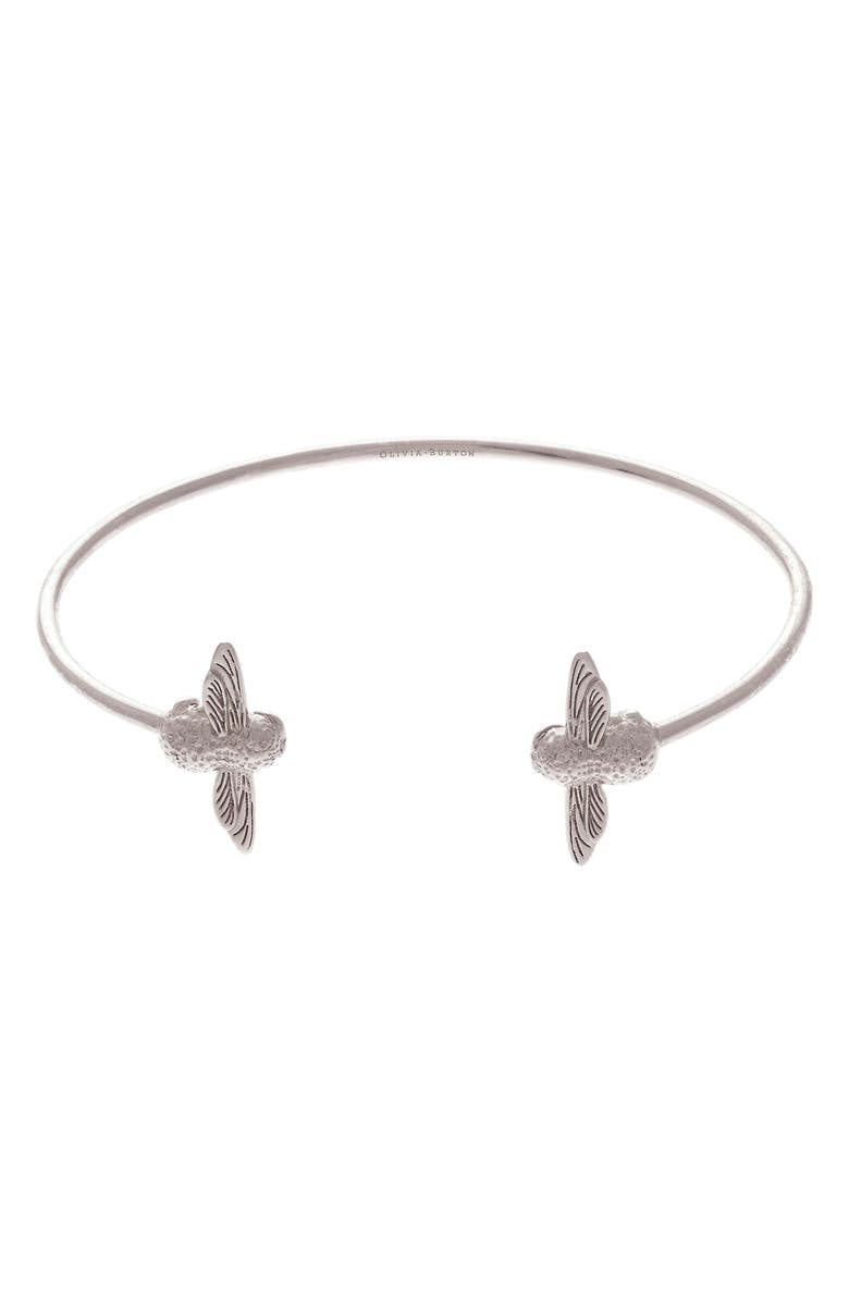 OLIVIA BURTON 3D Bee Open Bangle Bracelet, Main, color, 040