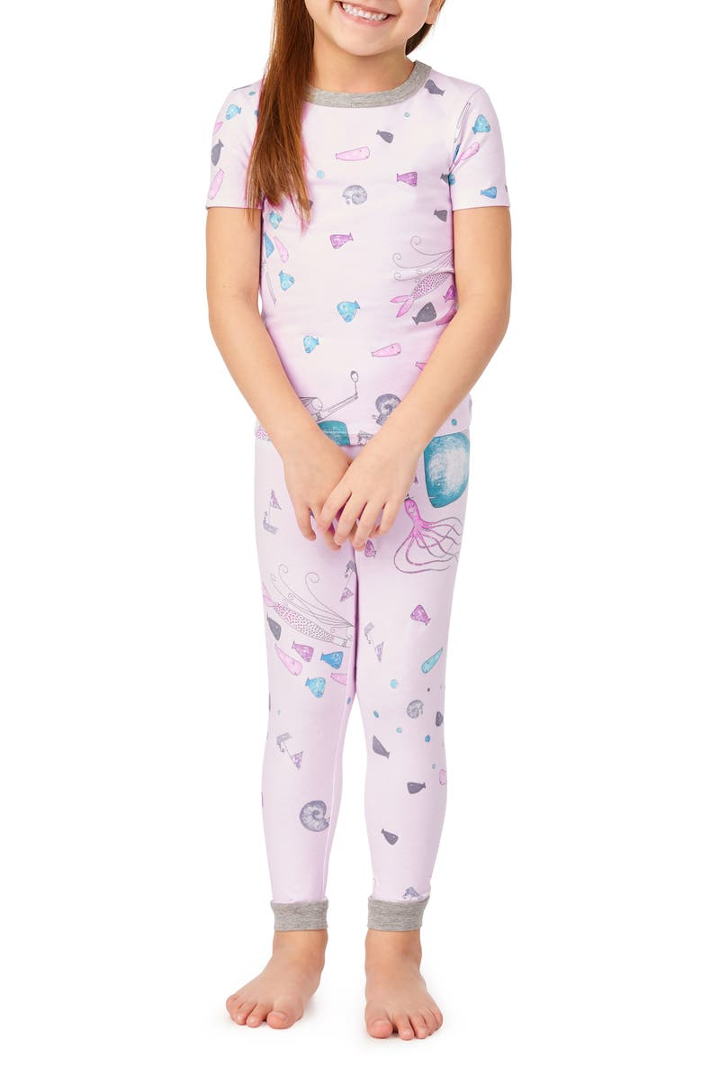 BEDHEAD PAJAMAS Fitted Two-Piece Pajamas & Book Set, Main, color, BENITA AND FRIENDS