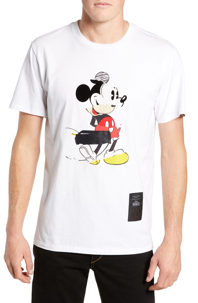 RAG & BONE Mickey Mouse Collage Unisex Graphic T-Shirt, Main, color, 100