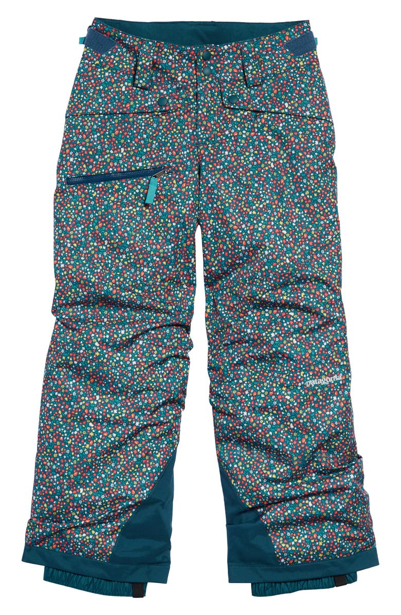 PATAGONIA Snowbelle Insulated Snow Pants, Main, color, BARN DANCE MULTI CRATER BLUE