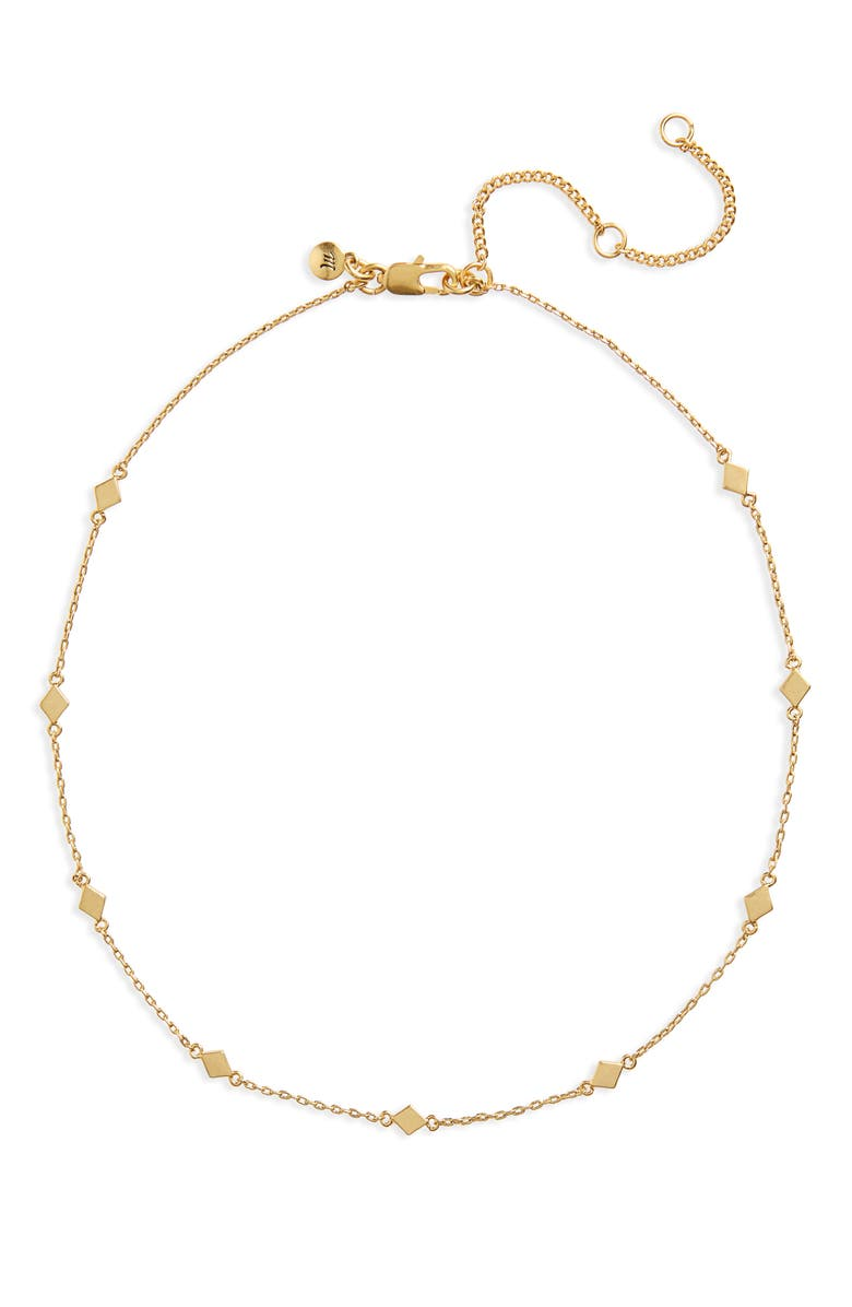 MADEWELL Delicate Diamond Shapes Choker Necklace, Main, color, 710