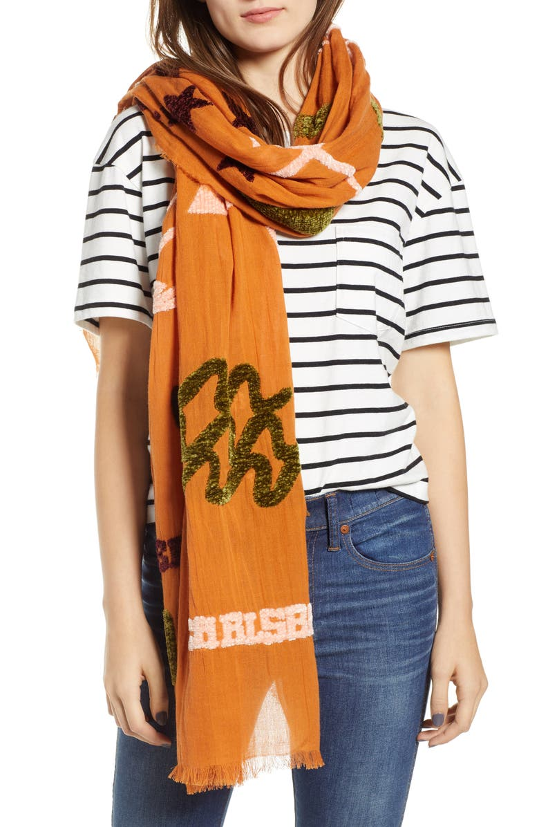 MADEWELL New Mexico Map Chenille Scarf, Main, color, 700
