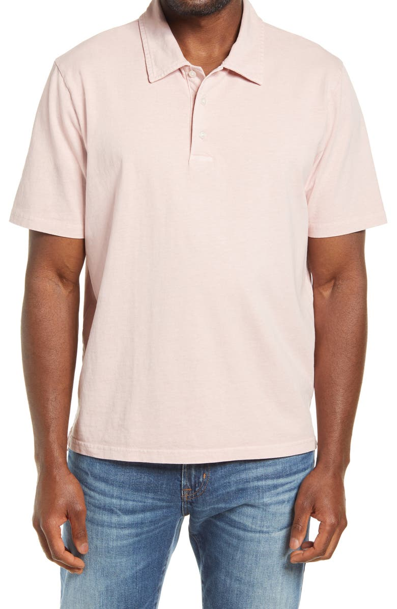 MADEWELL Regular Fit Garment Dyed Short Sleeve Polo Shirt, Main, color, WISTERIA DOVE