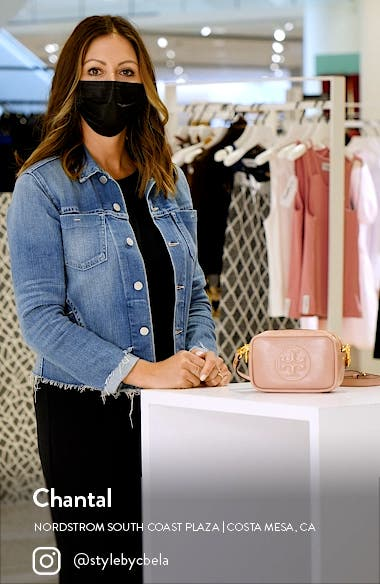 Perry Bombe Glazed Leather Crossbody Bag, sales video thumbnail