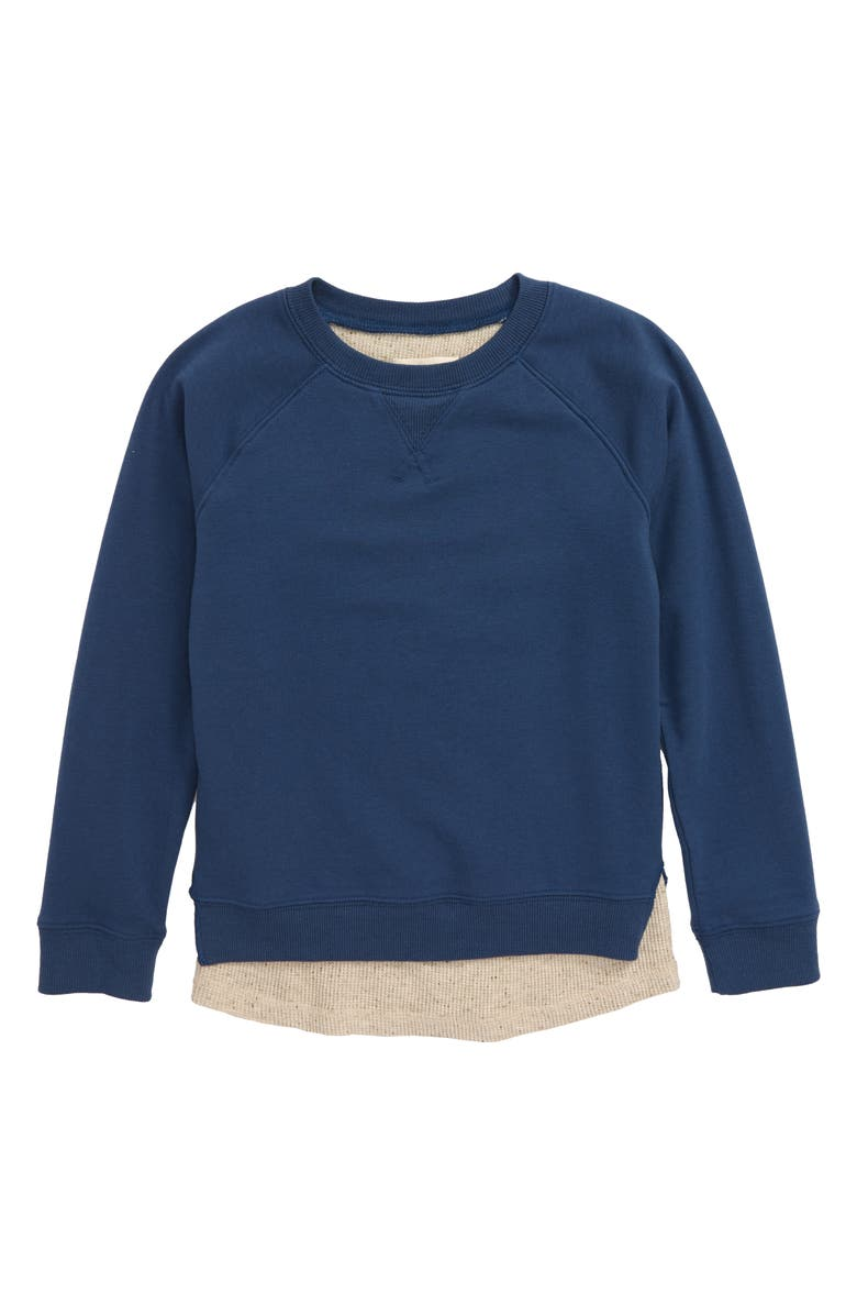TUCKER + TATE Never Taking Off This Two-Fer Layer Look Sweatshirt, Main, color, 410