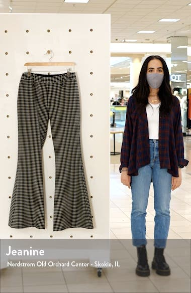 Check Bootcut Wool Trousers, sales video thumbnail
