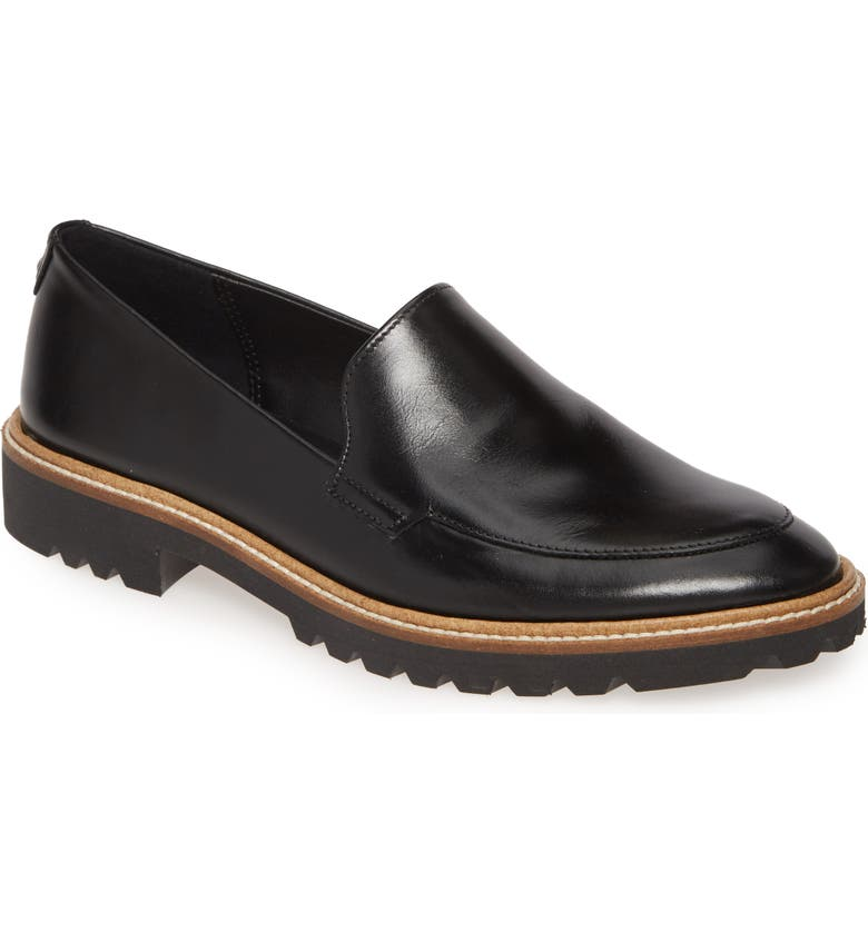 ECCO Incise Tailored Loafer, Main, color, BLACK LEATHER