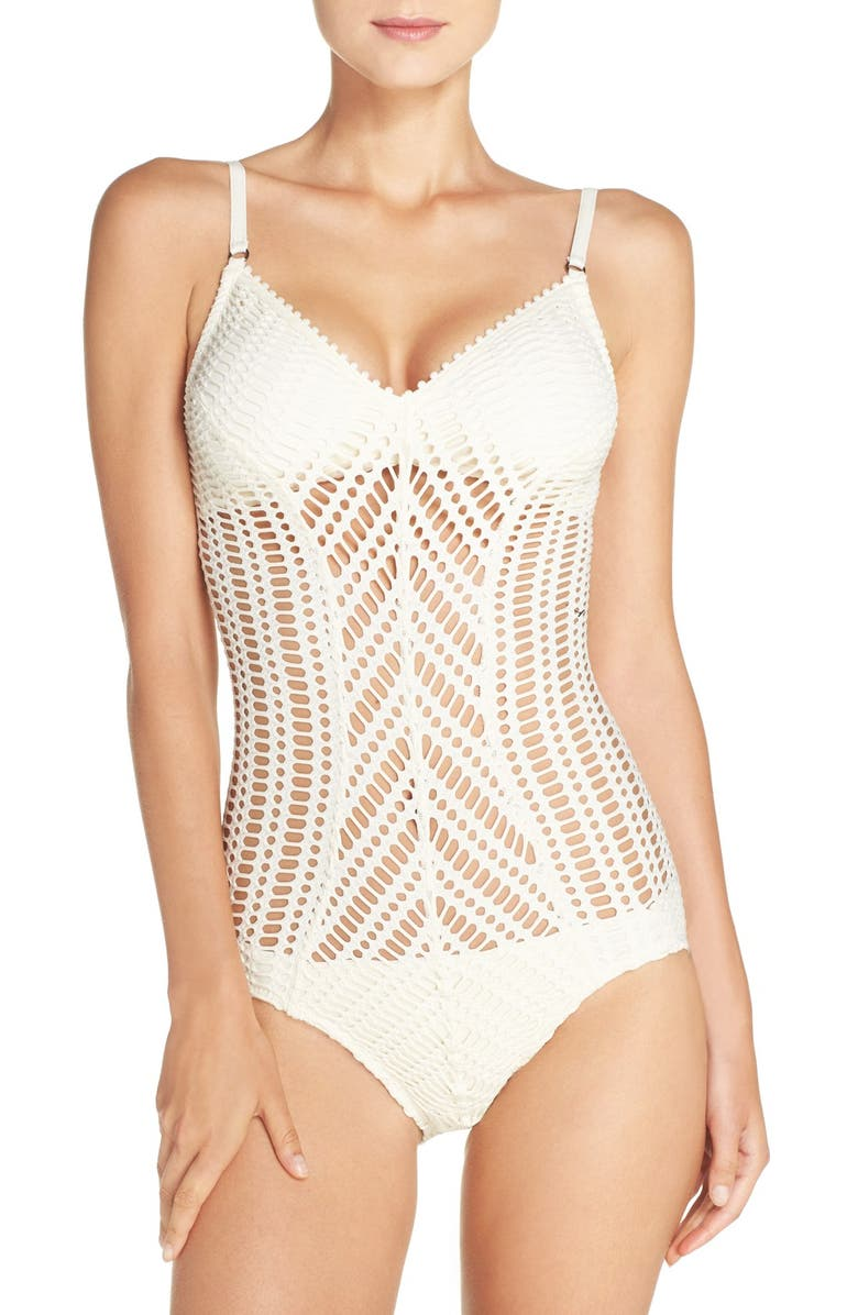 ROBIN PICCONE Sophia One-Piece Swimsuit, Main, color, 900