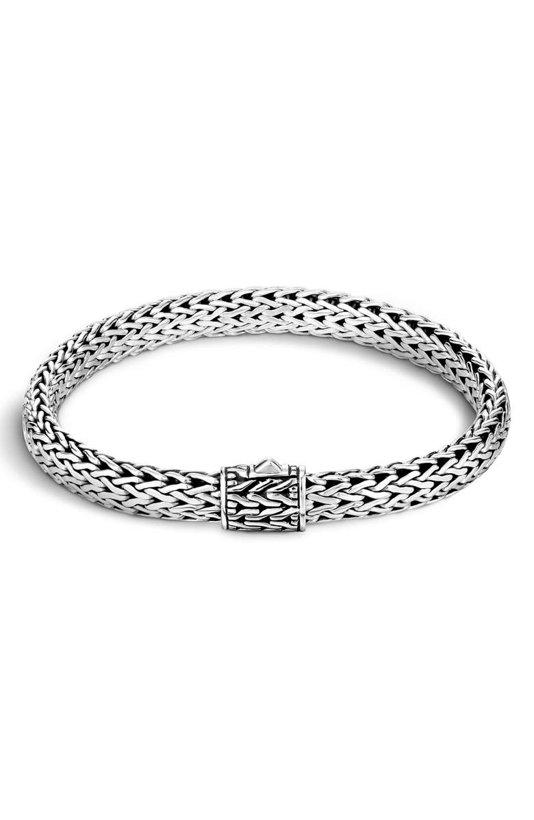 JOHN HARDY Classic Chain 6.5mm Bracelet, Main, color, SILVER