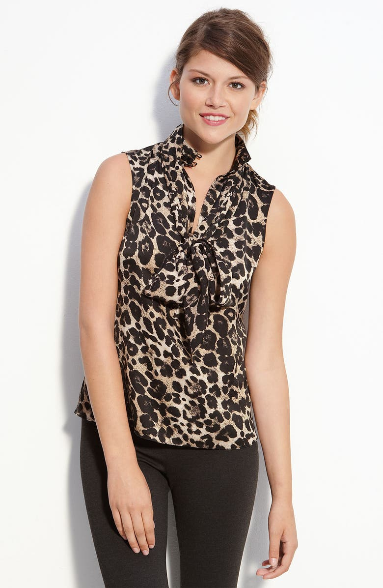 VINCE CAMUTO Sleeveless Tie Neck Print Blouse, Main, color, 250