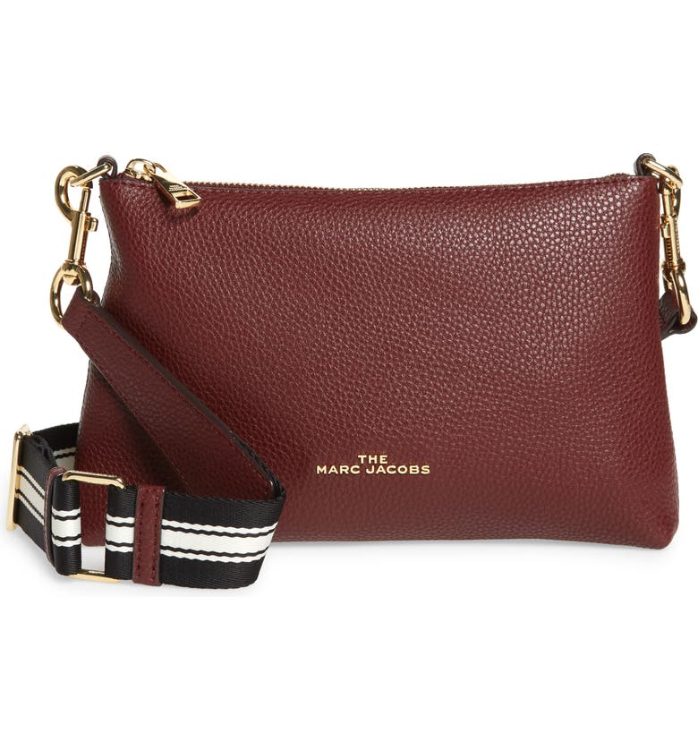 THE MARC JACOBS Leather Crossbody Bag, Main, color, MUSCAT
