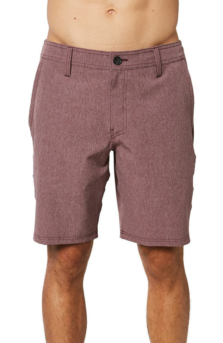 O'NEILL Reserve Heather Hybrid Water Resistant Swim Shorts, Main, color, PORT