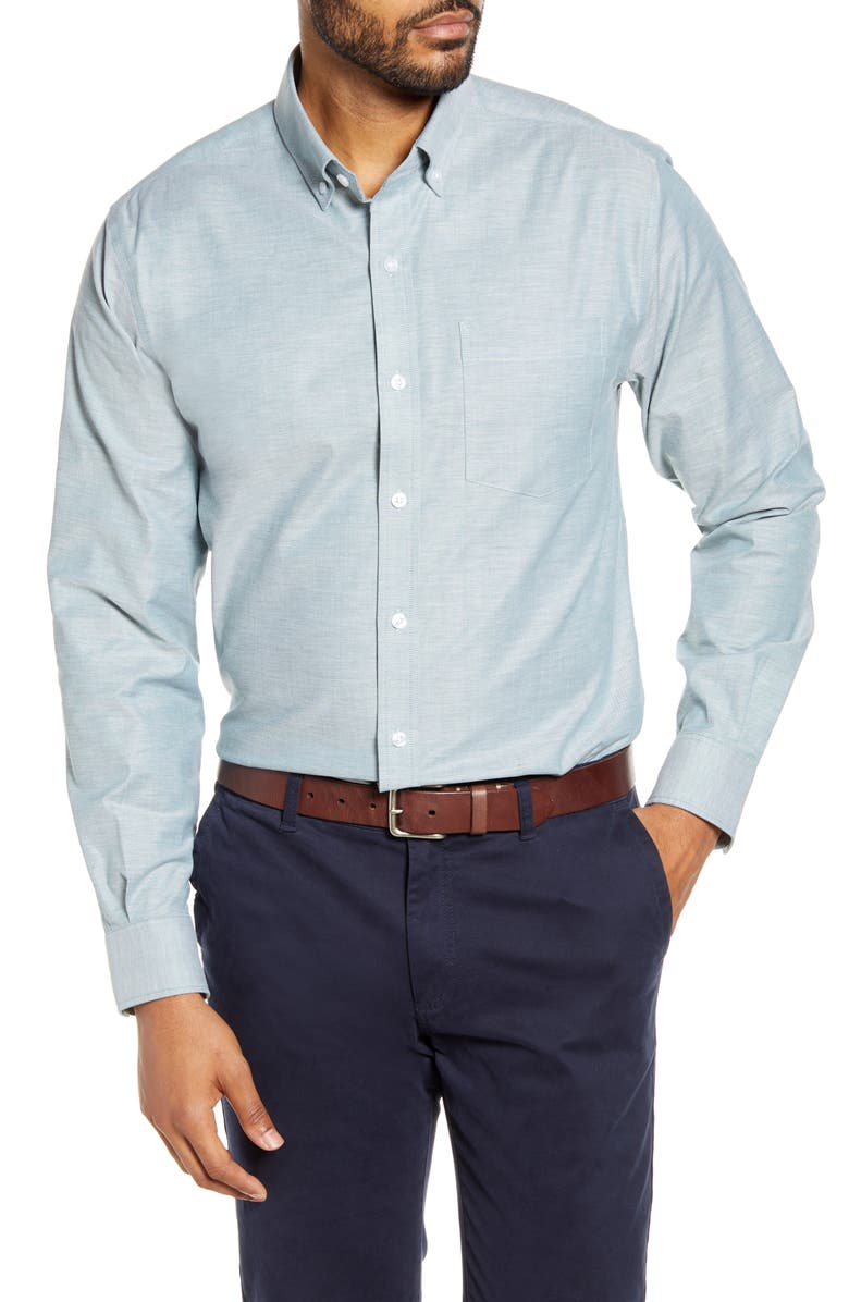 CUTTER & BUCK Classic Fit Oxford Sport Shirt, Main, color, SEAWEED