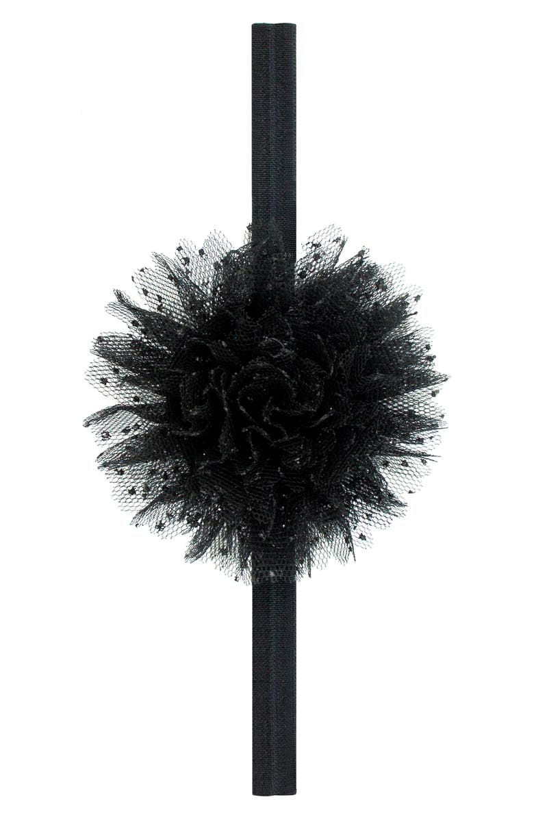 PLH BOWS & Laces Tulle Puff Head Wrap, Main, color, 001