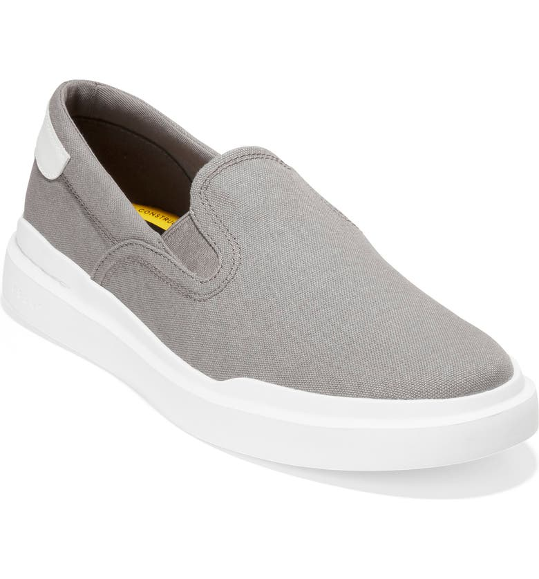 COLE HAAN GrandPro Rally Sneaker, Main, color, STORMCLOUD CANVAS/ OPTIC WHITE