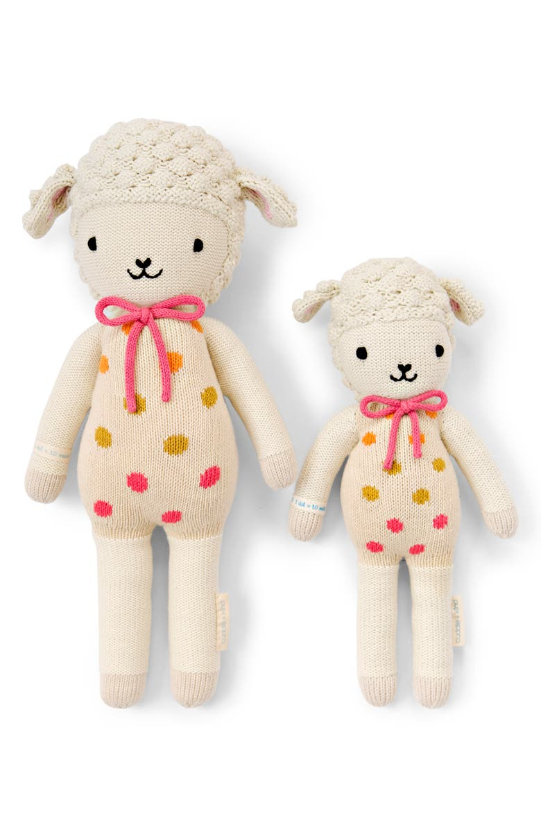 CUDDLE+KIND cuddle + kind Lucy the Lamb Stuffed Animal, Main, color, 101