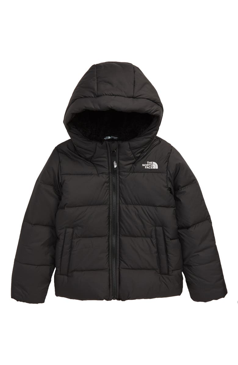 THE NORTH FACE Moondoggy Water Repellent Down Hooded Jacket, Main, color, 001